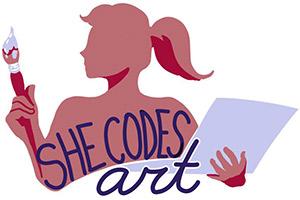 She Codes Art Logo