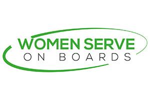 Women Serve On Boards Logo