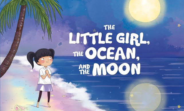 The Little Girl, The Ocean, and The Moon Book Cover